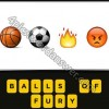Guess The Emoji Basketball Soccer Ball Fire Angry Face