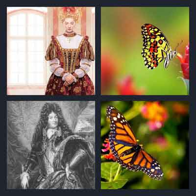 4-pics-1-word-monarch