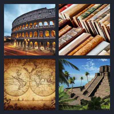 Pics 1 Word Answer Ancient | What's The Word 4 Pics 1 Word Answer