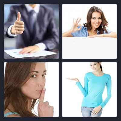 Pics 1 Word Answer Gesture | What's The Word 4 Pics 1 Word Answer