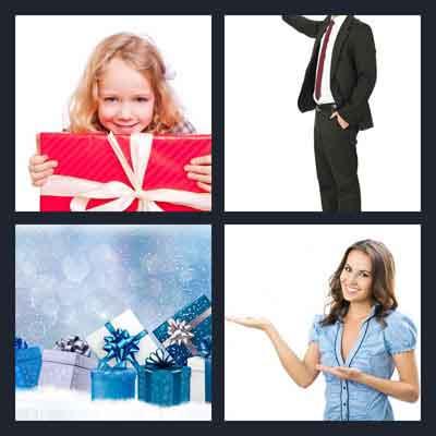 4-pics-1-word-present
