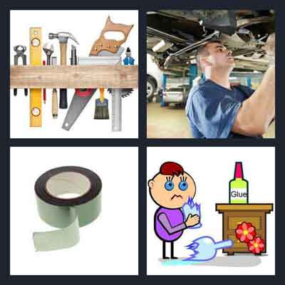 4 pics 1 word answer repair 4 pics 1 word game answers for Gardening tools 94 game answers
