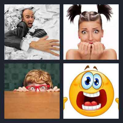 4 Pics 1 Word Answer Scared | 4 Pics 1 Word Daily Puzzle Answers