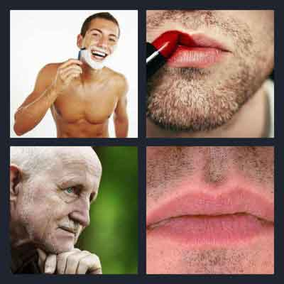 Pics 1 Word Answer Stubble | What's The Word 4 Pics 1 Word Answer