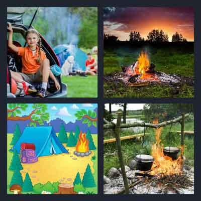 4-pics-1-word-campfire