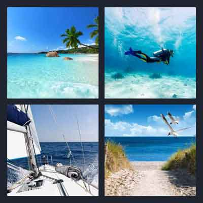 4 Pics 1 Word Answer Sea 4 Pics 1 Word Daily Puzzle Answers