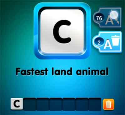 one-clue-fastest-land-animal
