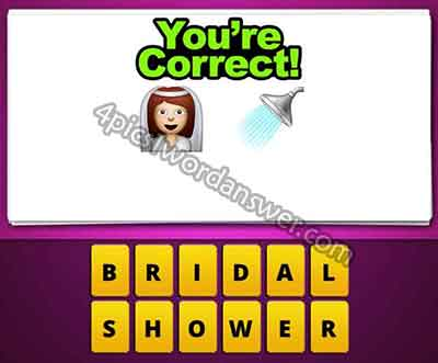 Guess the emoji bride and shower