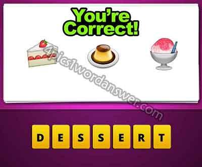 Cake Ice Cream Emoji : Guess The Emoji Cake Pudding Ice Cream 4 Pics 1 Word ...