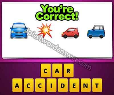 Guess The Emoji Car Bang Explosion Car Car 4 Pics 1 Word