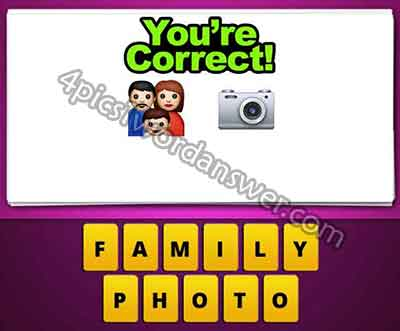 Guess The Emoji Family And Camera 4 Pics 1 Word Daily