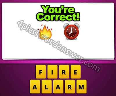 What does the fire and clock emoji mean in guess the emoji pop game ?