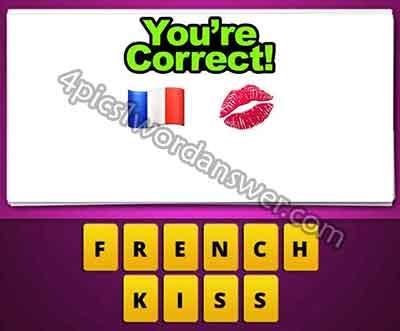 Guess The Emoji France Flag And Kiss Lips 4 Pics 1 Word