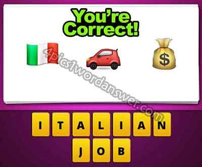 Guess The Emoji Italian Flag Car Money Bag 4 Pics 1 Word