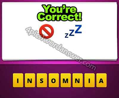 guess the emoji no sign and zzz 4 pics 1 word daily