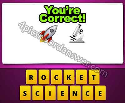 Guess The Emoji Rocket And Microscope