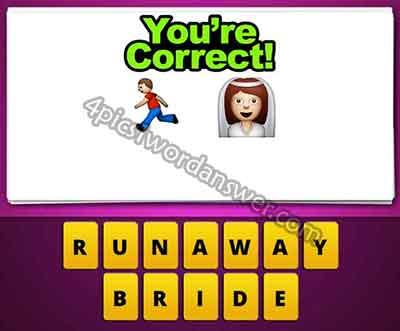 running boy and wedding bride emoji mean in guess the emoji pop gameRunning Bride Emoji