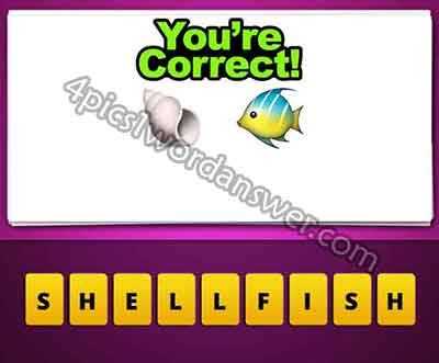 emoji-sea-shell-and-fish