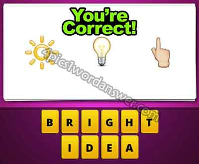 Guess The Emoji Sun Light Bulb Finger Pointing Up | 4 Pics ... Sun And Light Bulb Emoji
