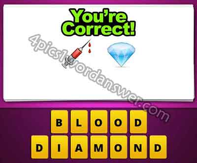 syringe needle and diamond emoji mean in guess the emoji pop gameNeedle Diamond Emoji