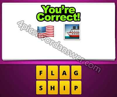 Guess The Emoji Usa Flag and Ship | 4 Pics 1 Word Daily Puzzle Answers