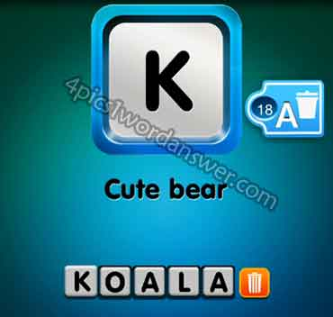 One Clue Cute Bear Answer 4 Pics 1 Word Daily Puzzle Answers