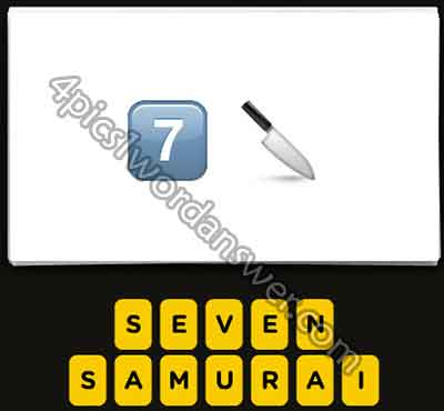 Guess The Emoji 7 and Knife   4 Pics 1 Word Daily Puzzle Answers
