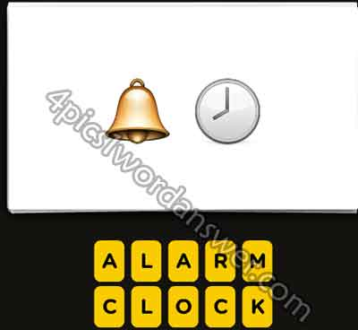 Guess The Emoji Bell and Clock | 4 Pics 1 Word Daily ...