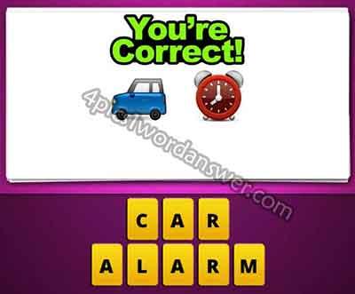 emoji-blue-car-and-alarm-clock