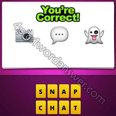 Guess The Emoji Camera Chat Bubble Ghost 4 Pics 1 Word Daily