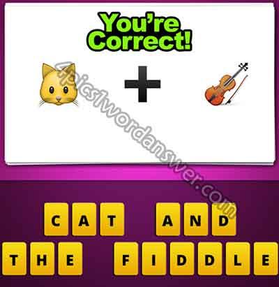 Guess The Emoji Cat Plus Violin 4 Pics 1 Word Daily