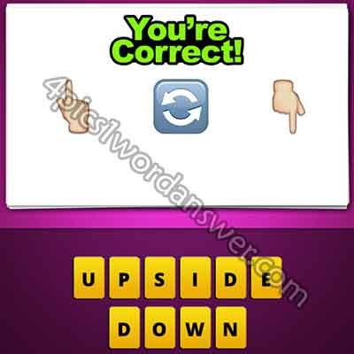 emoji-finger-up-turn-around-arrow-finger-down
