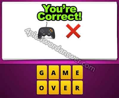 emoji-game-controller-and-x-cross
