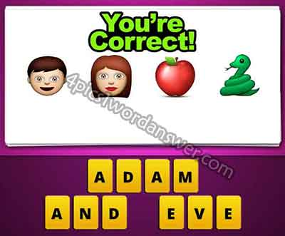 Guess The Emoji Man Woman Apple Snake 4 Pics 1 Word Daily Puzzle
