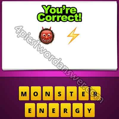 Guess The Emoji Monster And Lightning Bolt 4 Pics 1 Word Daily