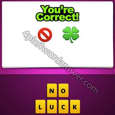 emoji-no-sign-and-4-leaf-clover