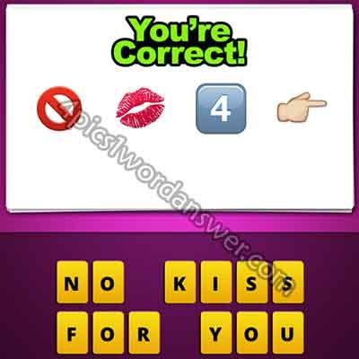 emoji-no-sign-kiss-mark-4-finger-pointing-right