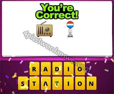 emoji-old-radio-and-sign-pole