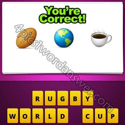 Guess The Emoji Rugby Ball World Globe Coffee | 4 Pics 1 ... World Cup Emoji