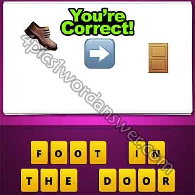emoji-shoe-right-arrow-door