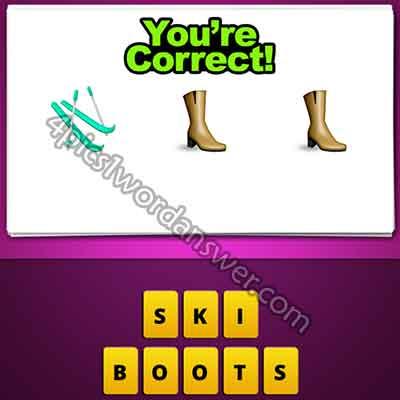 emoji-ski-and-2-boots-shoes
