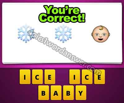 Guess The Emoji Snowflake Snowflake Baby 4 Pics 1 Word