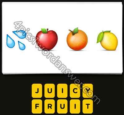 Guess The Emoji Water Drops Apple Orange Lemon 4 Pics 1