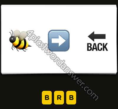 emoji-bee-right-arrow-back-arrow