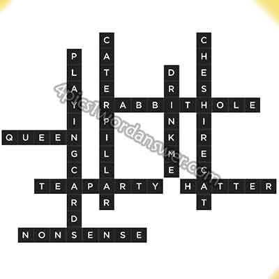 Bonza mystery clue alice in wonderland answer 4 pics 1 word game