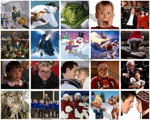 100 pics christmas films answers 4 pics 1 word game