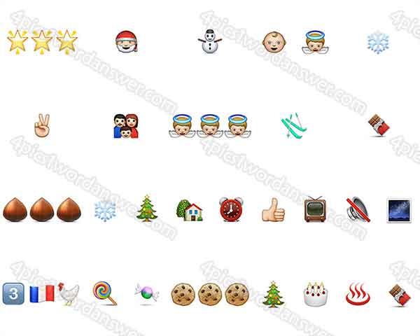 100 Pics Christmas Emoji Answers | 4 Pics 1 Word Game