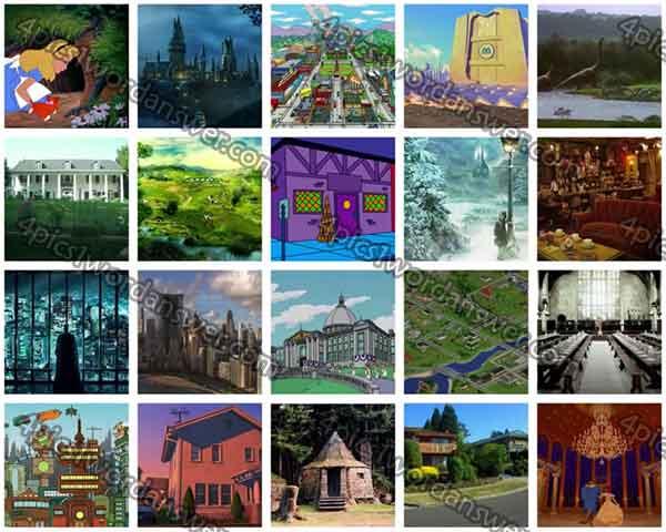 Fictional Places Fictional Places Level 11