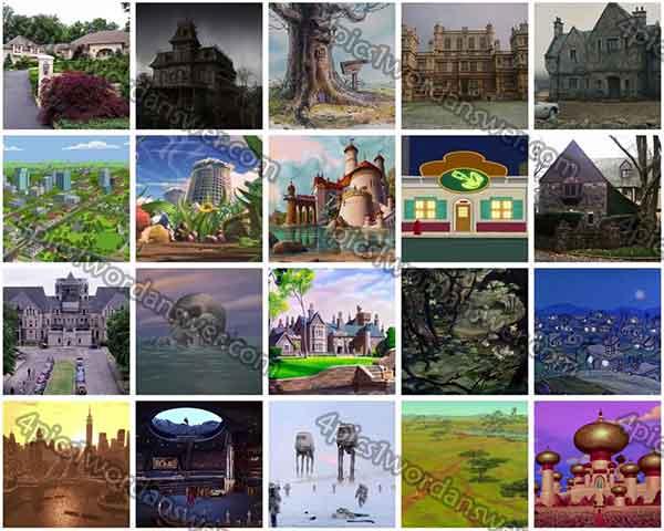 Fictional Places Fictional Places Level 32