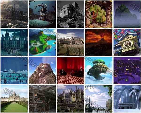 Fictional Places Fictional Places Level 52